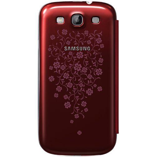 Productafbeelding van de Samsung Galaxy S3 (Neo) Flip Cover Red La Fleur