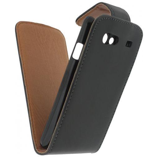 Productafbeelding van de Xccess Leather Flip Case Black Samsung Galaxy S Advance i9070