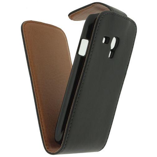 Productafbeelding van de Xccess Leather Flip Case Black Samsung Galaxy S3 Mini (VE)