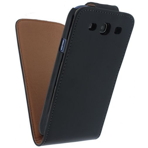 Productafbeelding van de Xccess Leather Flip Case Black Samsung Galaxy S3 (Neo)