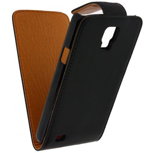 Productafbeelding van de Xccess Leather Flip Case Black Samsung Galaxy S4 Active i9295