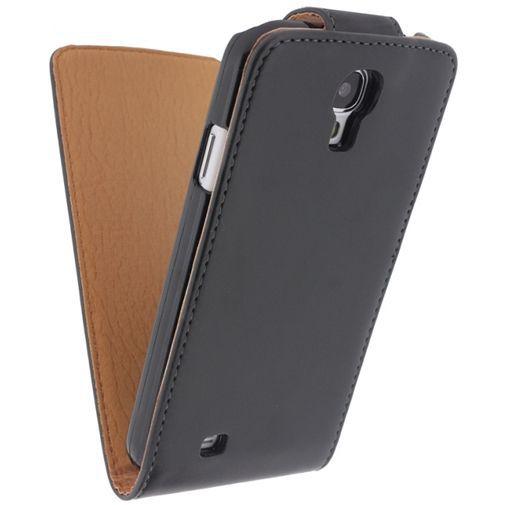 Productafbeelding van de Xccess Leather Flip Case Black Samsung Galaxy S4