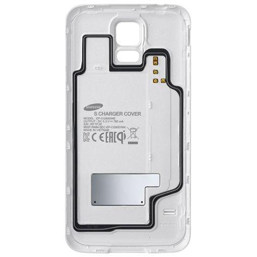 Productafbeelding van de Samsung Charging Cover White Galaxy S5/S5 Plus/S5 Neo
