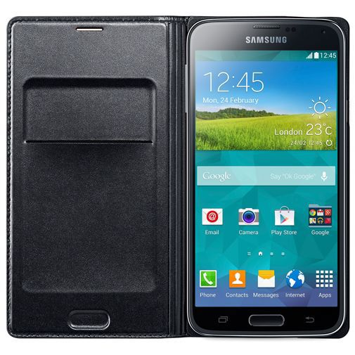 Productafbeelding van de Samsung Flip Wallet Black Galaxy S5/S5 Plus/S5 Neo