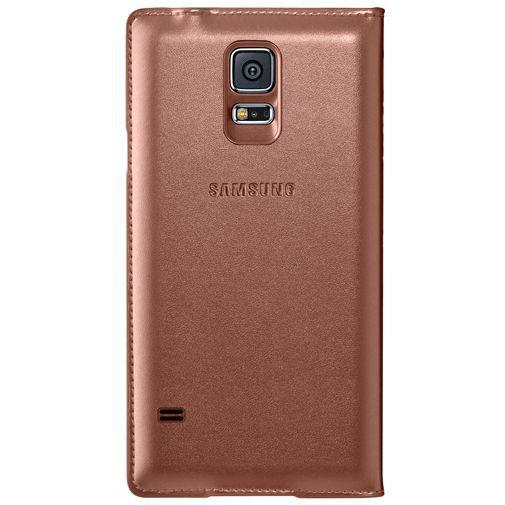 Productafbeelding van de Samsung Flip Wallet Gold Galaxy S5/S5 Plus/S5 Neo