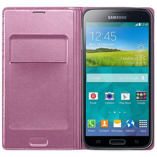 Productafbeelding van de Samsung Flip Wallet Pink Galaxy S5/S5 Plus/S5 Neo
