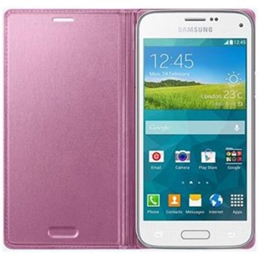 Productafbeelding van de Samsung Galaxy S5 Mini Flip Cover Pink