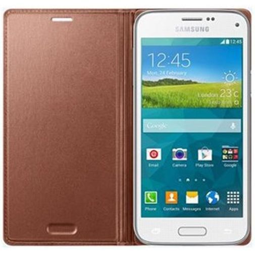 Productafbeelding van de Samsung Galaxy S5 Mini Flip Cover Rose Gold