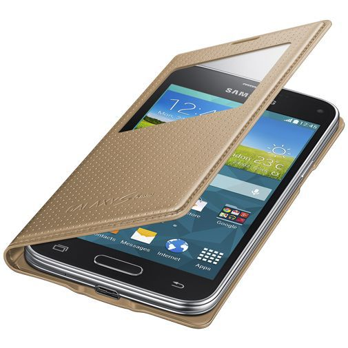 Productafbeelding van de Samsung Galaxy S5 Mini S View Cover Punch Gold