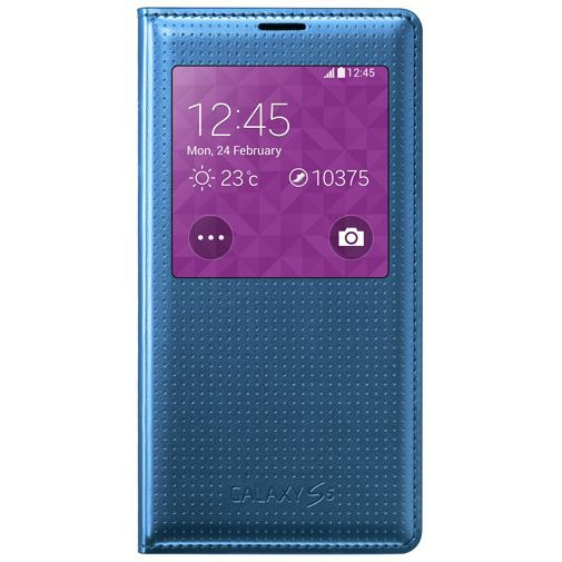 Productafbeelding van de Samsung S View Cover Punch Blue Galaxy S5/S5 Plus/S5 Neo