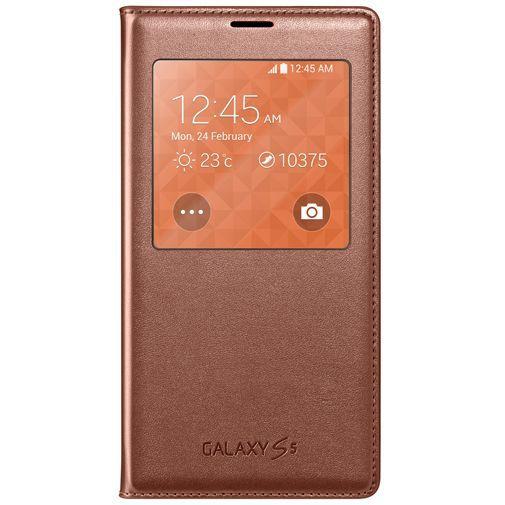 Productafbeelding van de Samsung S View Cover Gold Galaxy S5/S5 Plus/S5 Neo