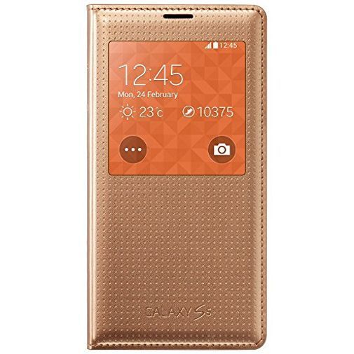 Productafbeelding van de Samsung S View Cover Punch Gold Galaxy S5/S5 Plus/S5 Neo