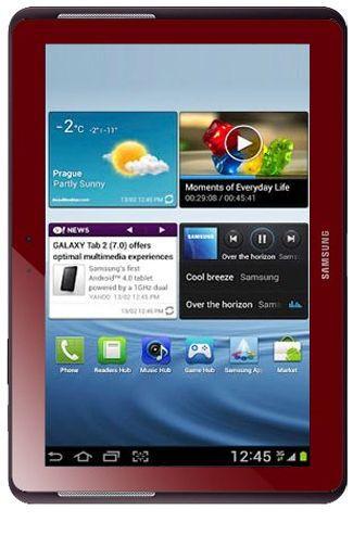 Productafbeelding van de Samsung Galaxy Tab 2 10.1 P5110 WiFi Red