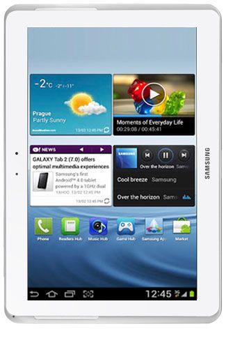 Productafbeelding van de Samsung Galaxy Tab 2 10.1 P5100 WiFi + 3G White