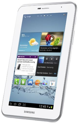 Productafbeelding van de Samsung Galaxy Tab 2 7.0 P3100 WiFi + 3G White