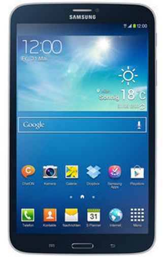 Productafbeelding van de Samsung Galaxy Tab 3 8.0 SM-T315 WiFi + 4G Black