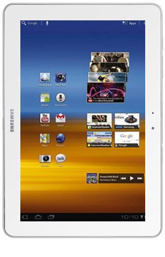 Productafbeelding van de Samsung Galaxy Tab 10.1 P7500 16GB 3G Pure White