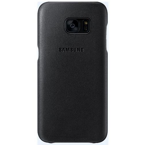 Productafbeelding van de Samsung Leather Cover Black Galaxy S7 Edge