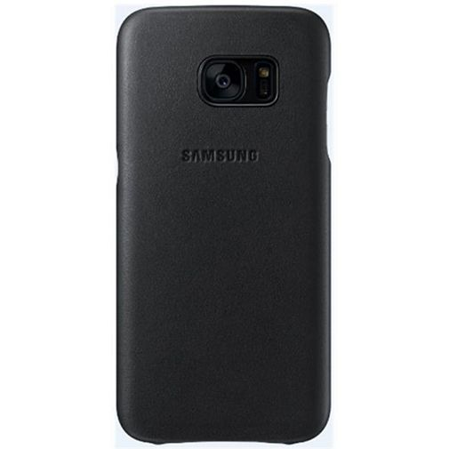 Productafbeelding van de Samsung Leather Cover Black Galaxy S7
