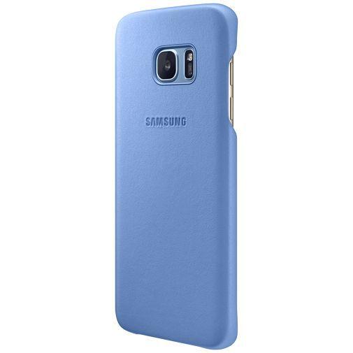 Productafbeelding van de Samsung Leather Cover Blue Galaxy S7 Edge