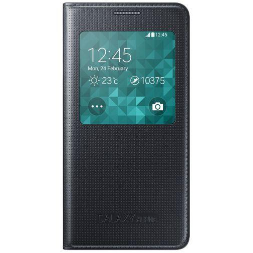 Samsung S-View Cover Black Galaxy Alpha