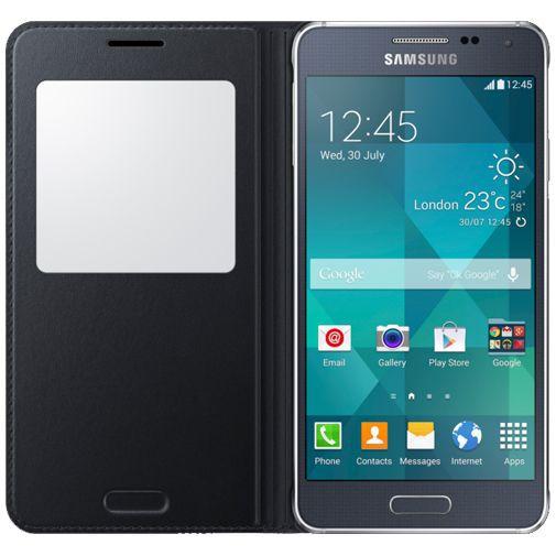 Productafbeelding van de Samsung S-View Cover Black Galaxy Alpha