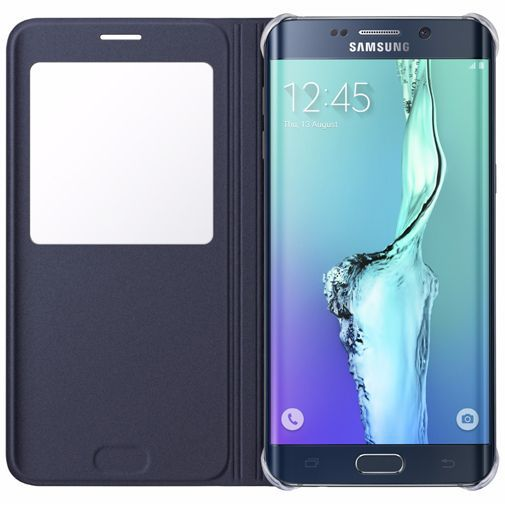 Productafbeelding van de Samsung S View Cover Blue Black Galaxy S6 Edge Plus