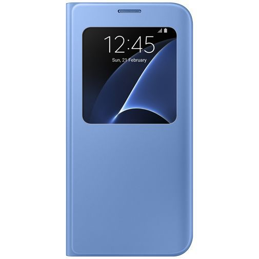 Productafbeelding van de Samsung S View Cover Blue Galaxy S7 Edge