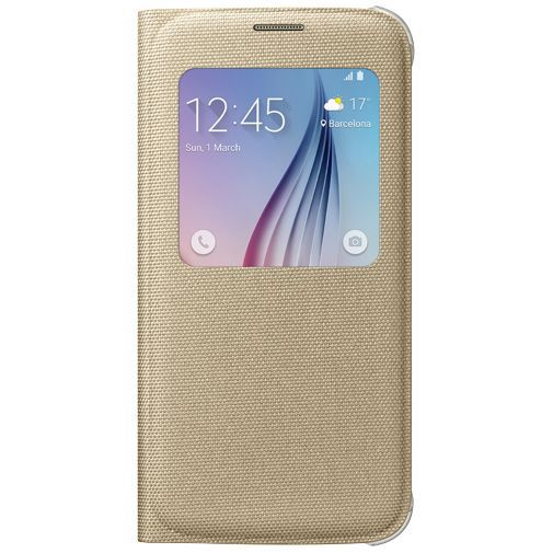 Samsung S View Cover Canvas Gold Galaxy S6