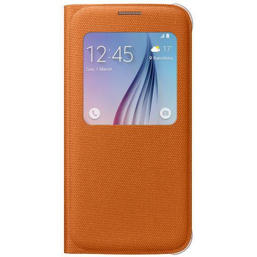 Productafbeelding van de Samsung S View Cover Canvas Orange Galaxy S6