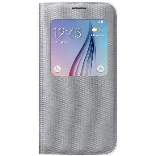 Productafbeelding van de Samsung S View Cover Canvas Silver Galaxy S6