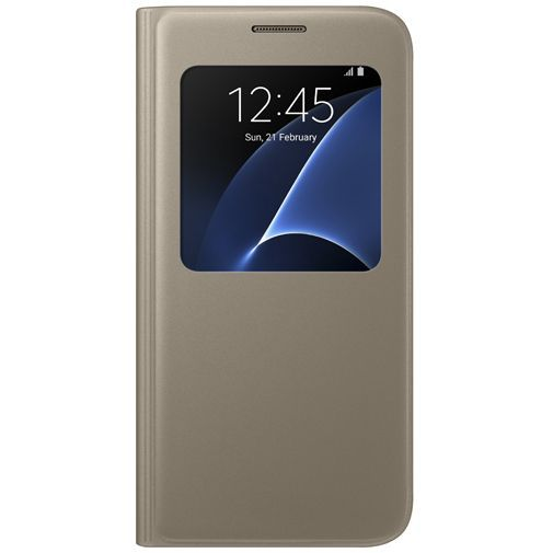 Productafbeelding van de Samsung S View Cover Gold Galaxy S7
