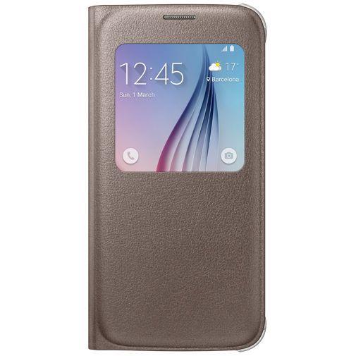 Productafbeelding van de Samsung S View Cover Original Gold Galaxy S6