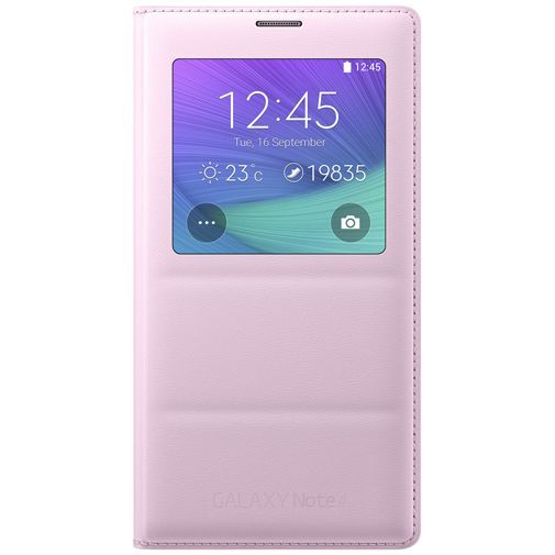 Productafbeelding van de Samsung S View Cover Pink Galaxy Note 4