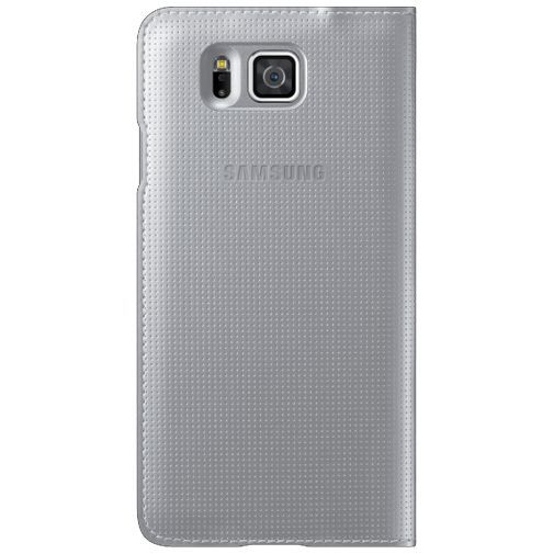 Productafbeelding van de Samsung S View Cover Silver Galaxy Alpha