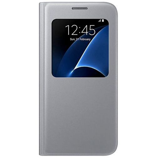 Productafbeelding van de Samsung S View Cover Silver Galaxy S7