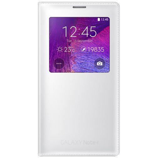 Productafbeelding van de Samsung S View Cover White Classic Edition Galaxy Note 4