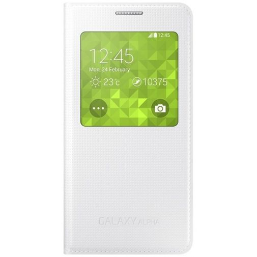 Productafbeelding van de Samsung S-View Cover White Galaxy Alpha