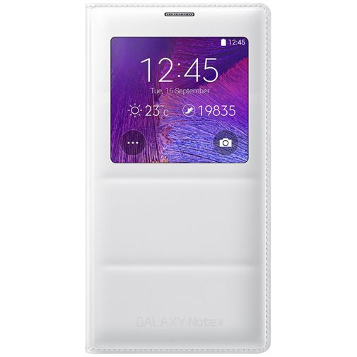 Productafbeelding van de Samsung S View Cover White Galaxy Note 4