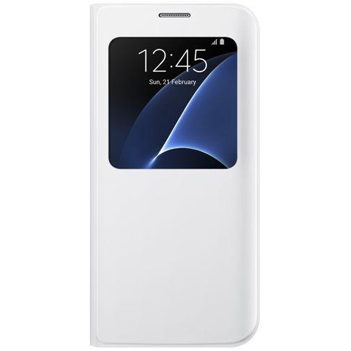 Productafbeelding van de Samsung S View Cover White Galaxy S7 Edge