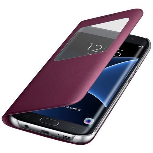 Productafbeelding van de Samsung S View Cover Wine Red Galaxy S7 Edge