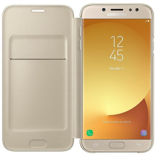 Samsung Wallet Cover Gold Galaxy J7 (2017)