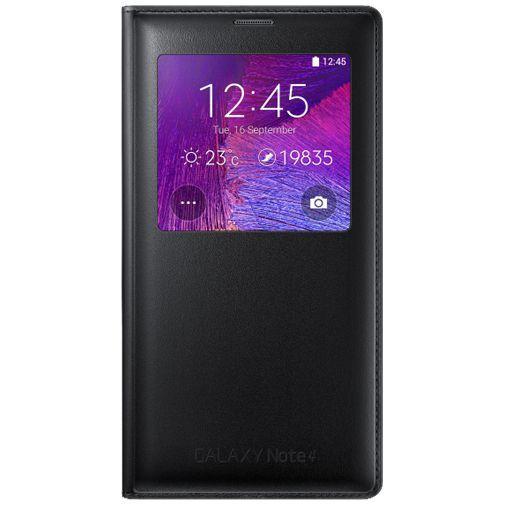 Productafbeelding van de Samsung Wireless Charging View Cover Black Galaxy Note 4