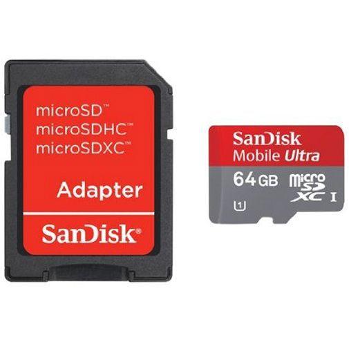Productafbeelding van de Sandisk MicroSDXC 64 GB Class 10 200X UHS-I