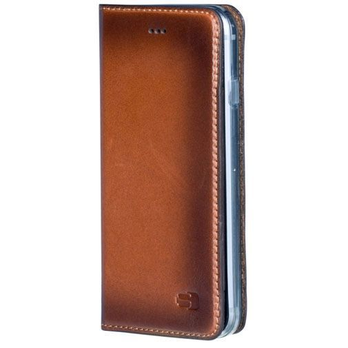 Productafbeelding van de Senza Desire Leather Booklet Burned Cognac Apple iPhone 6/6S