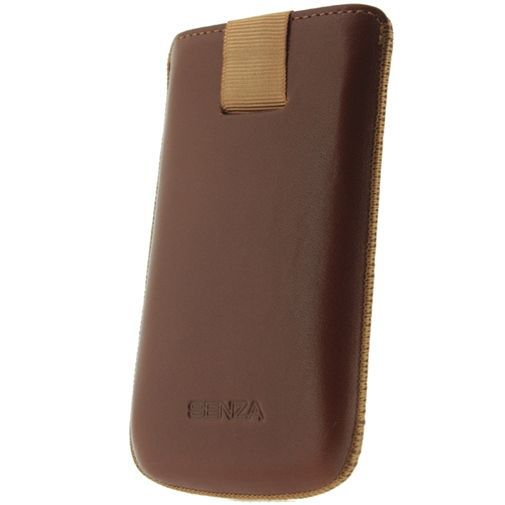 Productafbeelding van de Senza Leather Slide Case Cognac Size M