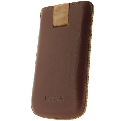 Productafbeelding van de Senza Leather Slide Case Cognac Size S