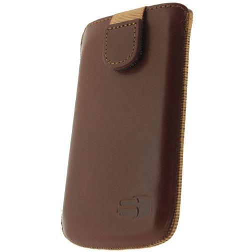 Productafbeelding van de Senza Leather Slide Case Cognac Size XL