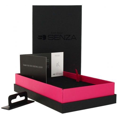 Productafbeelding van de Senza Pure Leather Wallet Deep Black Apple iPhone 6/6S