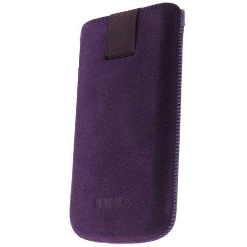 Productafbeelding van de Senza Suede Slide Case Velvet Purple Size XL
